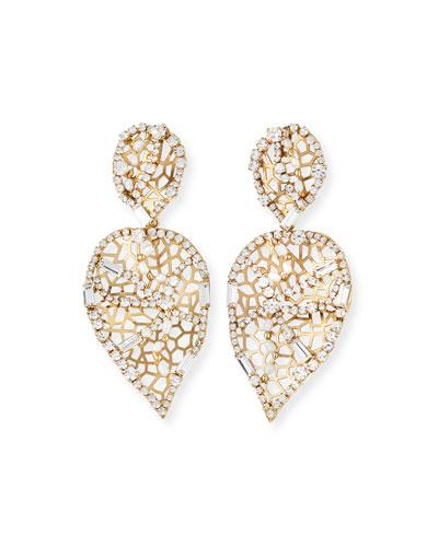 Brividi Perforated Crystal Drop Earrings