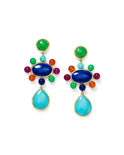 Nova 18k Mixed-Stone Drop Earrings