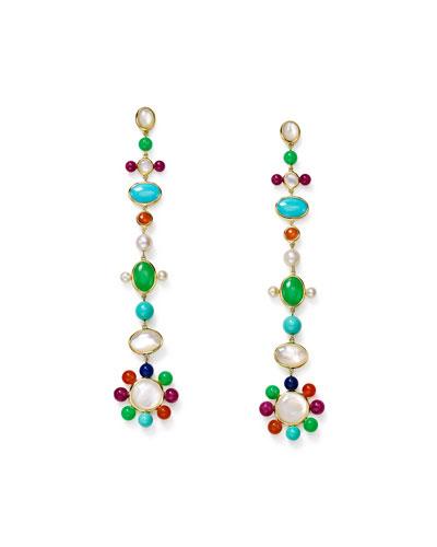 Nova 18k Pearl & Mixed-Stone Drop Earrings
