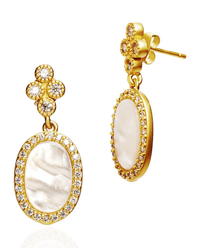 Color Theory Pave Oval Drop Earrings