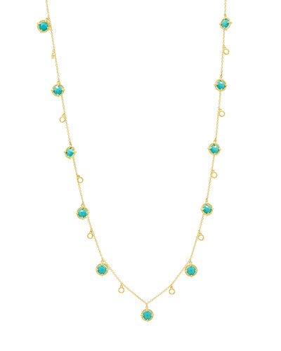 Color Theory Stone Droplet Necklace