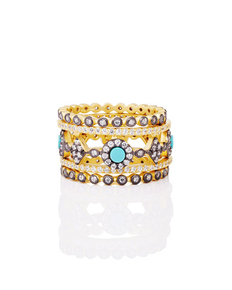 Freida Rothman Color Theory 5-Piece Stacking Ring Set