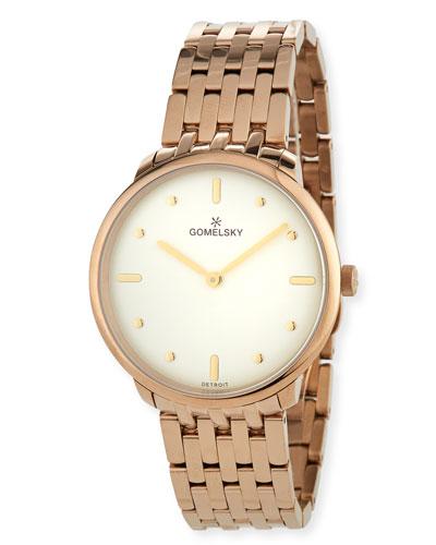36mm Audry Bracelet Watch, Champagne/Opaline
