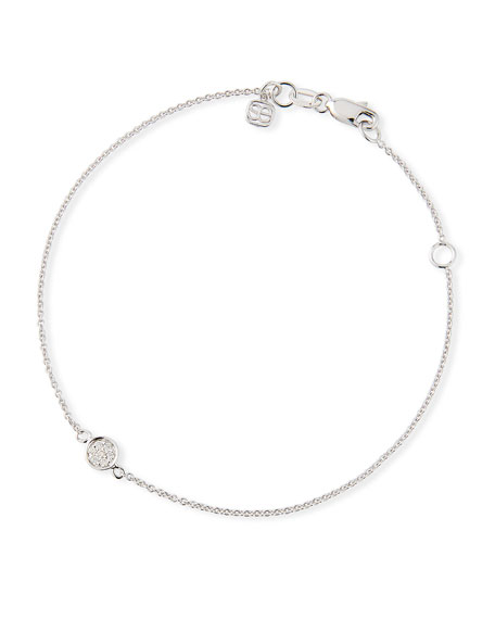 SYDNEY EVAN 14K White Gold Diamond Baby Disc Bracelet
