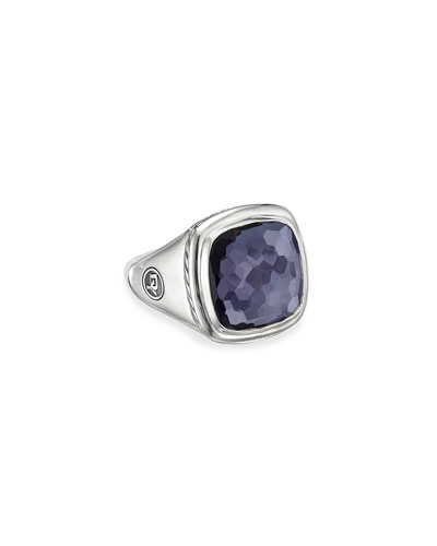 Albion Ring w/ Black Orchid  Size 5-9