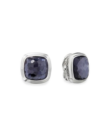 David Yurman Albion Stud Earrings w/ Black Orchid