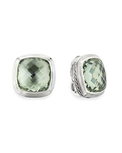 Albion Stud Earrings w/ Prasiolite