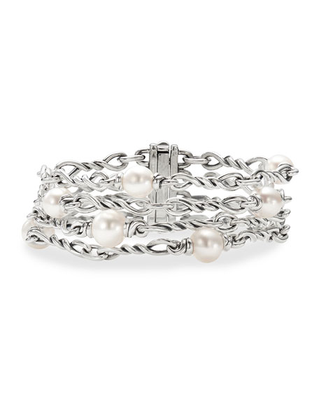David Yurman Continuance Pearl 4-Chain Bracelet