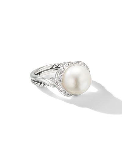 Continuance Pearl & Diamond Ring, Size 5-8