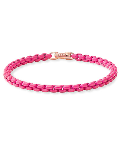 Bel Aire Hot Pink Bracelet w/ 14k Rose Gold  4mm  Size S-L