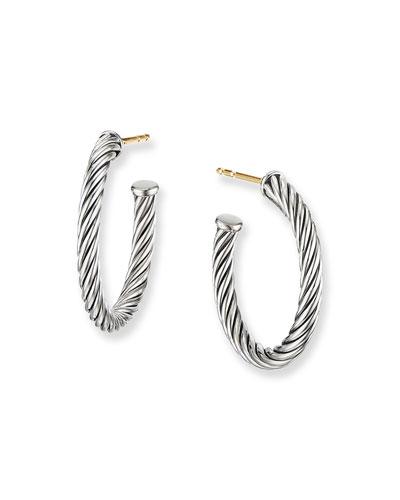 Cablespira Hoop Earrings  0.75
