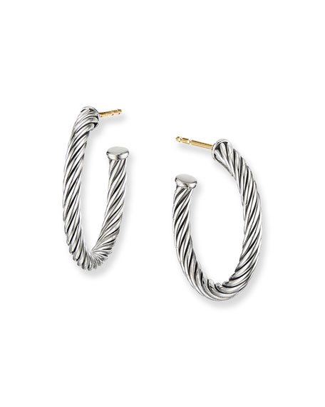 David Yurman Cablespira Hoop Earrings, 0.75""
