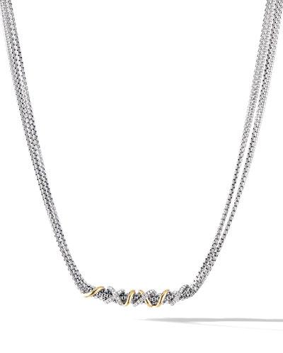 DY Helena Diamond-Wrapped Necklace w/ 18k Gold