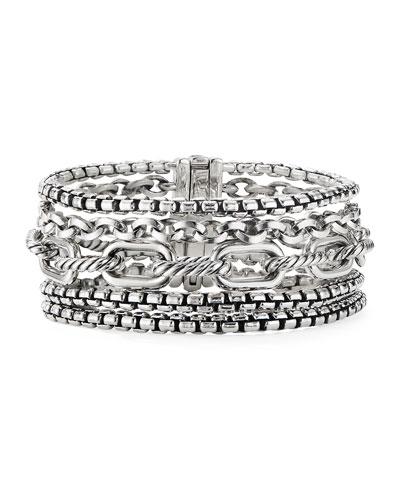 Multi-Row Chain Bracelet  Size L