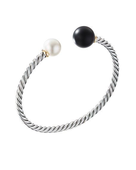 David Yurman Solari XL Cable Bracelet with Black Onyx, Gold Dome and 14K Yellow Gold