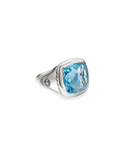Albion Ring w/ Blue Topaz  Size 5-9