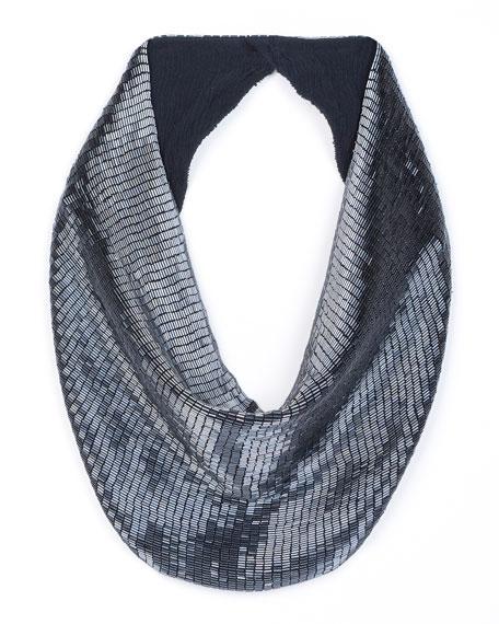 MIGNONNE GAVIGAN Sara Beaded Scarf Necklace in Gray