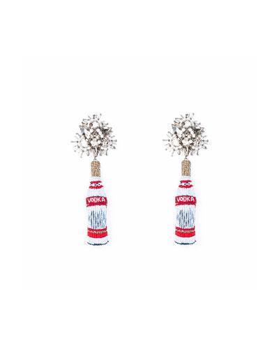 Vodka Beaded Drop Earrings