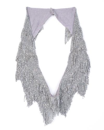 Greta Beaded Fringe Necklace