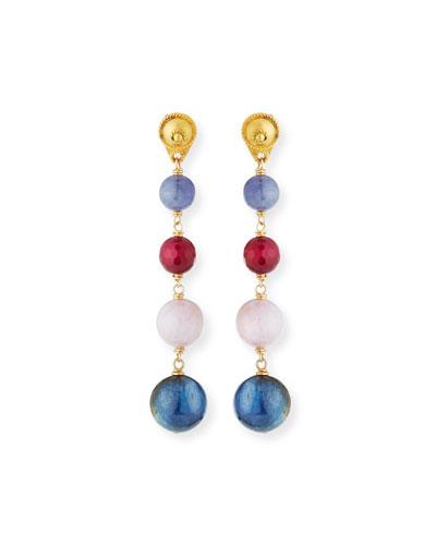 Multi-Ball Drop Earrings
