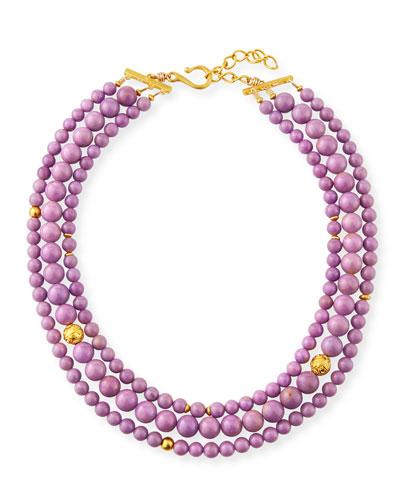 3-Strand Phosphosiderite Necklace