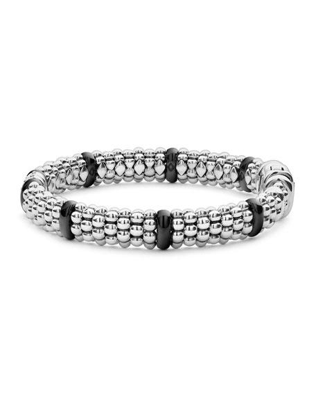 Black Caviar 2-Diamond Station Bracelet