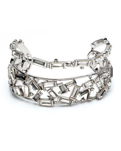 Scattered Crystal Baguette Cuff