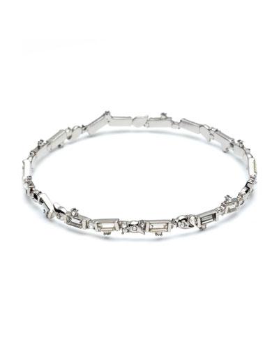 Crystal Baguette Bangle Bracelet
