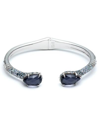 Crystal Encrusted Ombre Hinge Bracelet