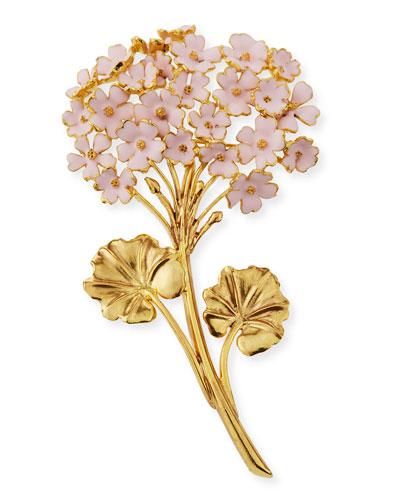 Painted Geranium Brooch