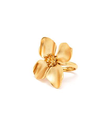 Flower Ring, Golden