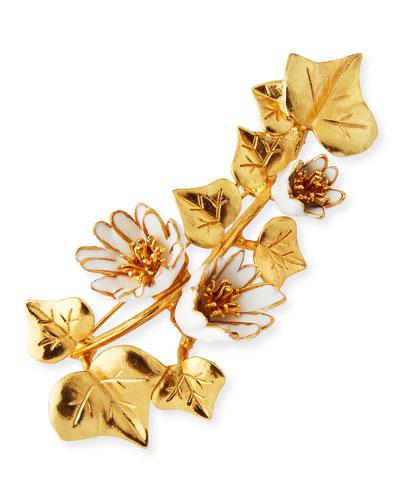 Ivy Brooch, Golden