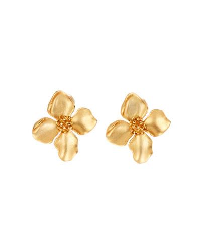 Small Flower Clip Earrings