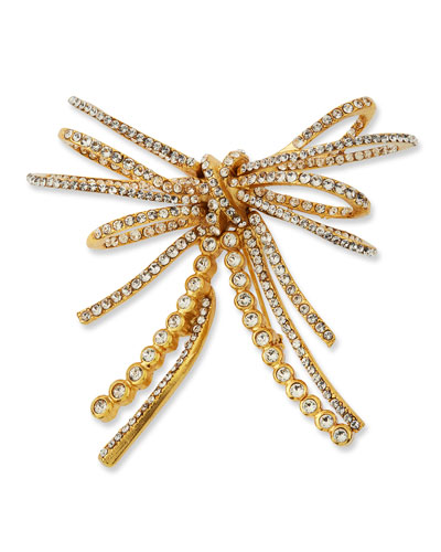 Pave Bow Brooch