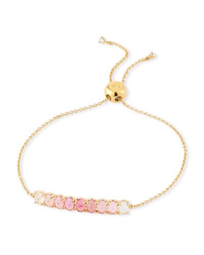 Tai Pull Tie Ombre Stone Bracelet Pink
