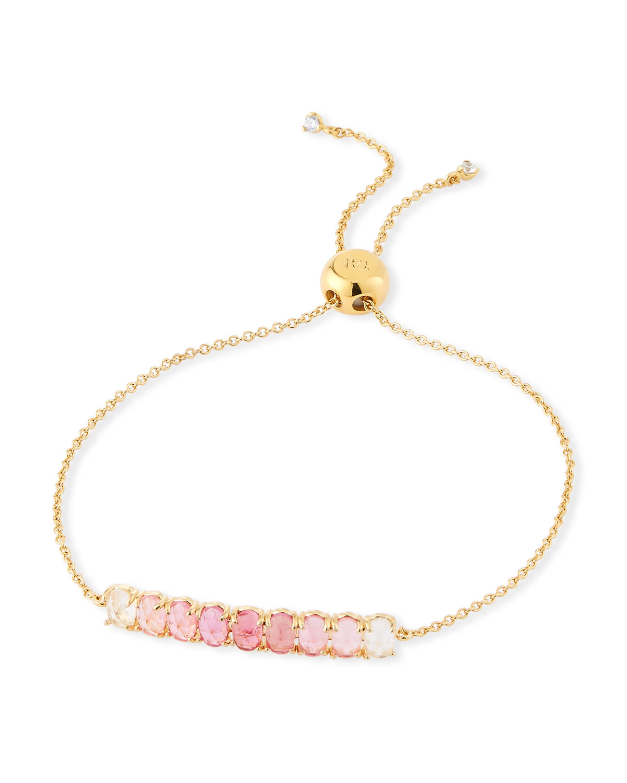 Pull Tie Ombre Stone Bracelet Pink