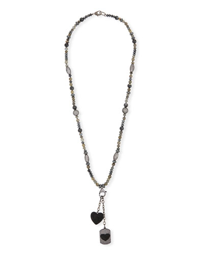 Pendant Necklace with Hearts
