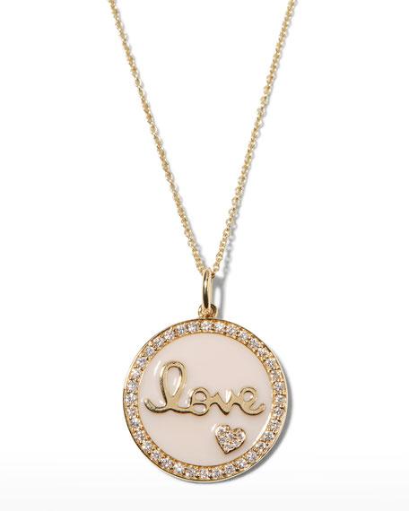 Sydney Evan 14k Gold Love Medallion Necklace w/