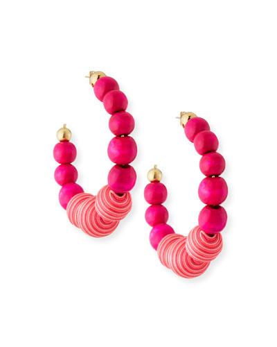 Colonia Beaded Hoop Earrings