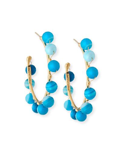 Dada Beaded Hoop Earrings