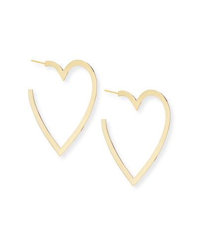 Larissa Medium Heart-Hoop Earrings