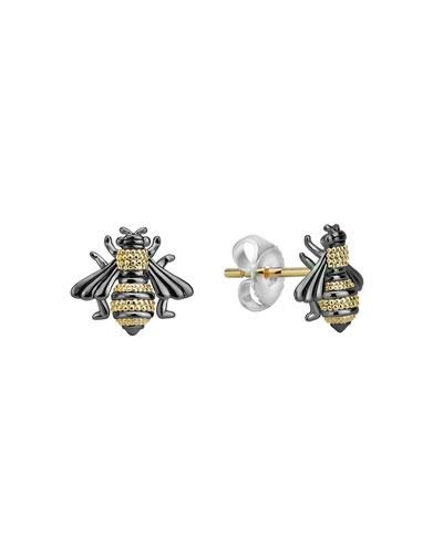 Rare Wonders 18k Honeybee Stud Earrings