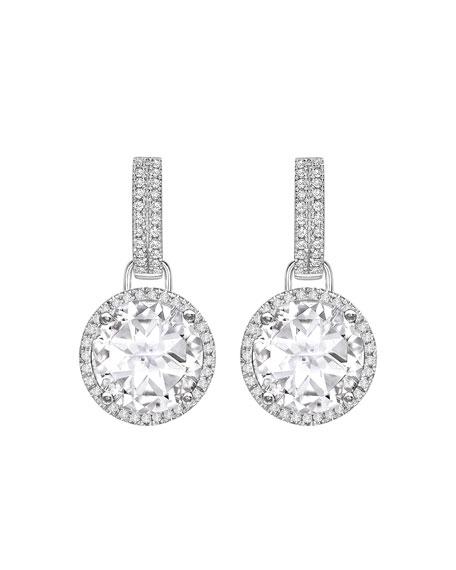 KIKI MCDONOUGH Grace 18K White Gold/Diamond/Topaz Earrings in White/Gold