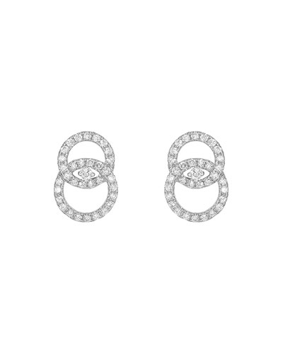 18k White Gold Interlocking Diamond Stud Earrings