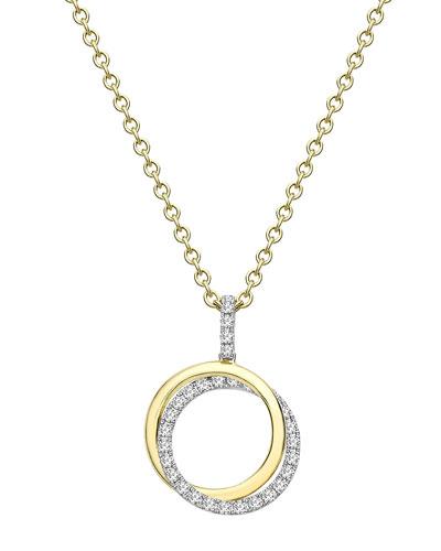 Lola 18k Gold Diamond 2-Ring Pendant Necklace