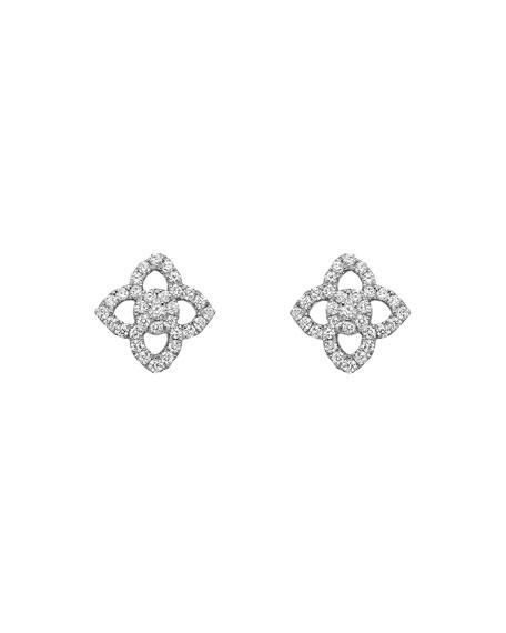 KIKI MCDONOUGH 18K White Gold Diamond Pointed Flower Stud Earrings in White/Gold