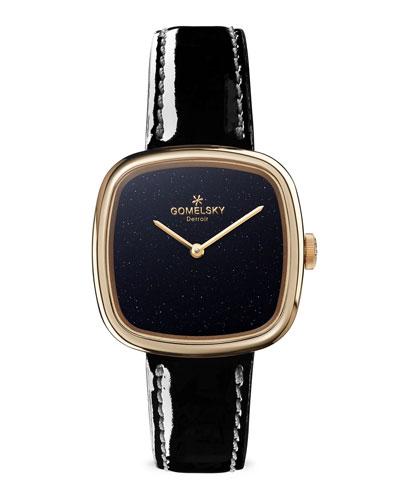 32mm Eppie Mini Watch w/ Patent Leather Strap