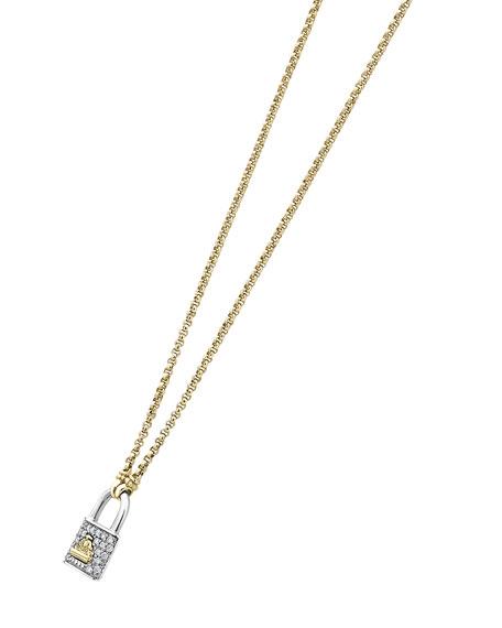Beloved Diamond Lock Pendant Necklace