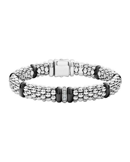Black Caviar Diamond Station Bracelet