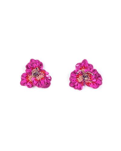 Sasha Beaded Silk Stud Earrings